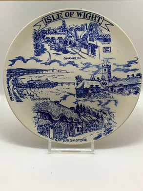 Collector Plate. England. Blue and White. Isle of Wight.  6-1/4