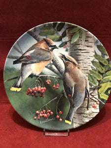 Collector Plate. The Cedar Waxwing, by Kevin Daniels 9-1/4