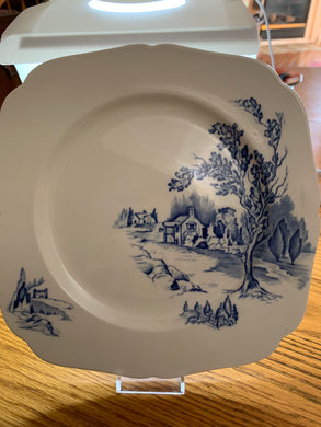 Collector Plate. England. Blue and White. Rural Scene.  11