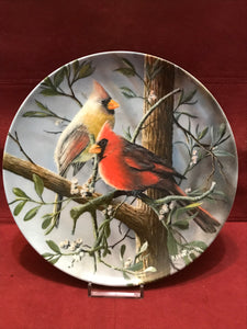 Collector Plate. The Cardinal, by Kevin Daniels- 9-1/4