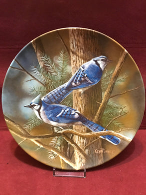 Collector Plate. The Blue Jay, by Kevin Daniels. 9-1/4