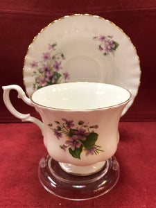 Royal Albert, England. Cup and Saucer. Purple Violets