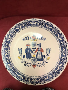 Johnson Bros. England Old Granite, Hearts and Flowers, Dinner Plate