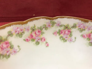 Limoges, Bridal Wreath, 3 footed Serving Bowl, 8-3/4""