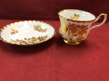 Load image into Gallery viewer, Royal Albert, England, Cup and Saucer,  White with Gold