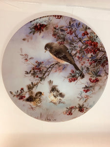 "Collector Plate- Lena Liu- .  Nature's Poetry Series- #8.  ""Delicate Accord"""