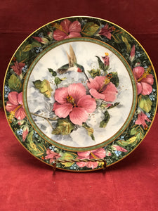 Collector Plate. The Imperial Hummingbird, by Theresa Politowicz