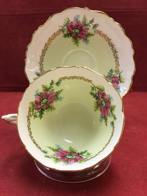 Foley. England.  Cup and Saucer. Wild Roses.