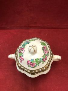 Coalport, Indian Tree, Multicoloured, Covered Sugar Bowl, Antique