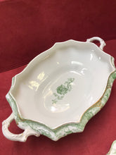 Load image into Gallery viewer, T&R Boote, England, Semi-Porcelain, Green Roses, Covered Vegetable Dish