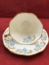 Load image into Gallery viewer, Royal Albert,  Rocaille,  Blue and Gold motif on white background