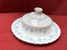 Load image into Gallery viewer, Royal Albert, Memory Lane, Round Butter Dish with Lid.  Forget-Me-Nots