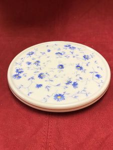 Breakfast Service, Arzberg, Germany, Bayern, Bone China, trivet.  Blue and White