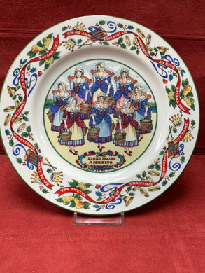 Royal Worcester,  The 12 days of Christmas. Plate #8