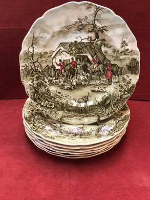 "Johnson Brothers, Tally Ho, Luncheon/Salad Plate, ""Stirrup Cup"""