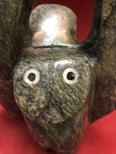 Load image into Gallery viewer, Indigenous. Inuit Carving, Owls, 2 in one , Cape Dorset, by, Adamie Qaumagiaq