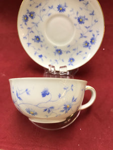 Cup and saucer. Bayern, Arzberg, Germany, Breakfast trio, Blue and White. (3pc)