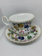 "Load image into Gallery viewer, Royal Albert, England. Cup and Saucer, Random Harvest Series- ""Sussex'. Raspberries"