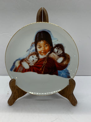 "Collector Plate.  ""Threesome"",  by Nori Peter.  6-1/2"""
