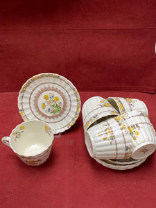 Copeland-Spode- England. Buttercup. Cup and Saucers