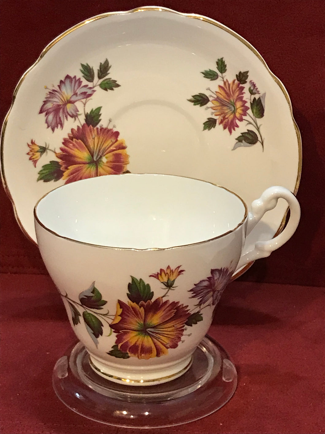Royal Ascot, England. Cup and Saucer. Floral