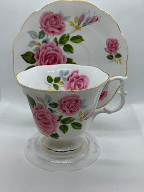Royal Albert, England. Cup and Saucer. Large Pink Roses