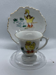 Japan. Japan.  Demitasse / child's Play- cup and saucer, Little Yellow Duck