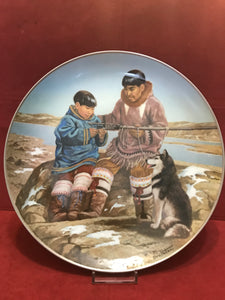 "Collector Plate. ""Odark and Son, Samik"", by Nori Peter.  10"""