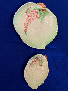 Carlton Ware. England. Serving Dishes- Leaf pattern with Foxglove