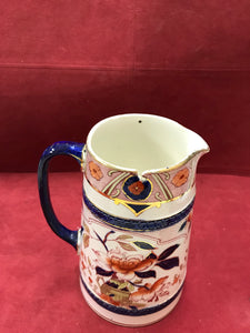 Burleigh Ware, B & L., Japonica, Imari Style, Jug with Pewter Lid