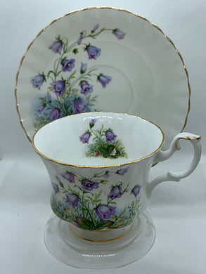 Royal Albert, England. Cup and Saucer. Sunnyside Series.  Juliet.  Bluebells