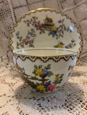 Aynsley.  England. Cup and Saucer. Oriental style-Without Handles.