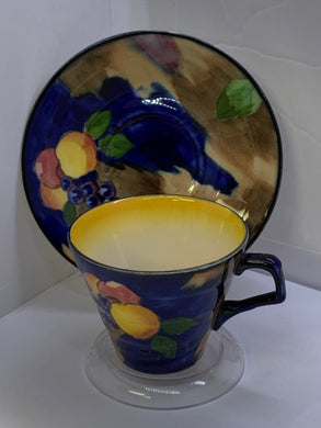 "H&K Tunstall, England. Cup and Saucer.  R.Grocott, ""Luscious"""