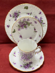 Hammersley, Victorian Violets, from England's Countryside.  4pc Set