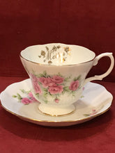 Load image into Gallery viewer, Royal Albert, England. Cup and Saucer. Pink Roses, Mother