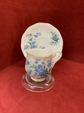 Royal Albert, England. Demitasse Cup and Saucer, Forget Me Nots