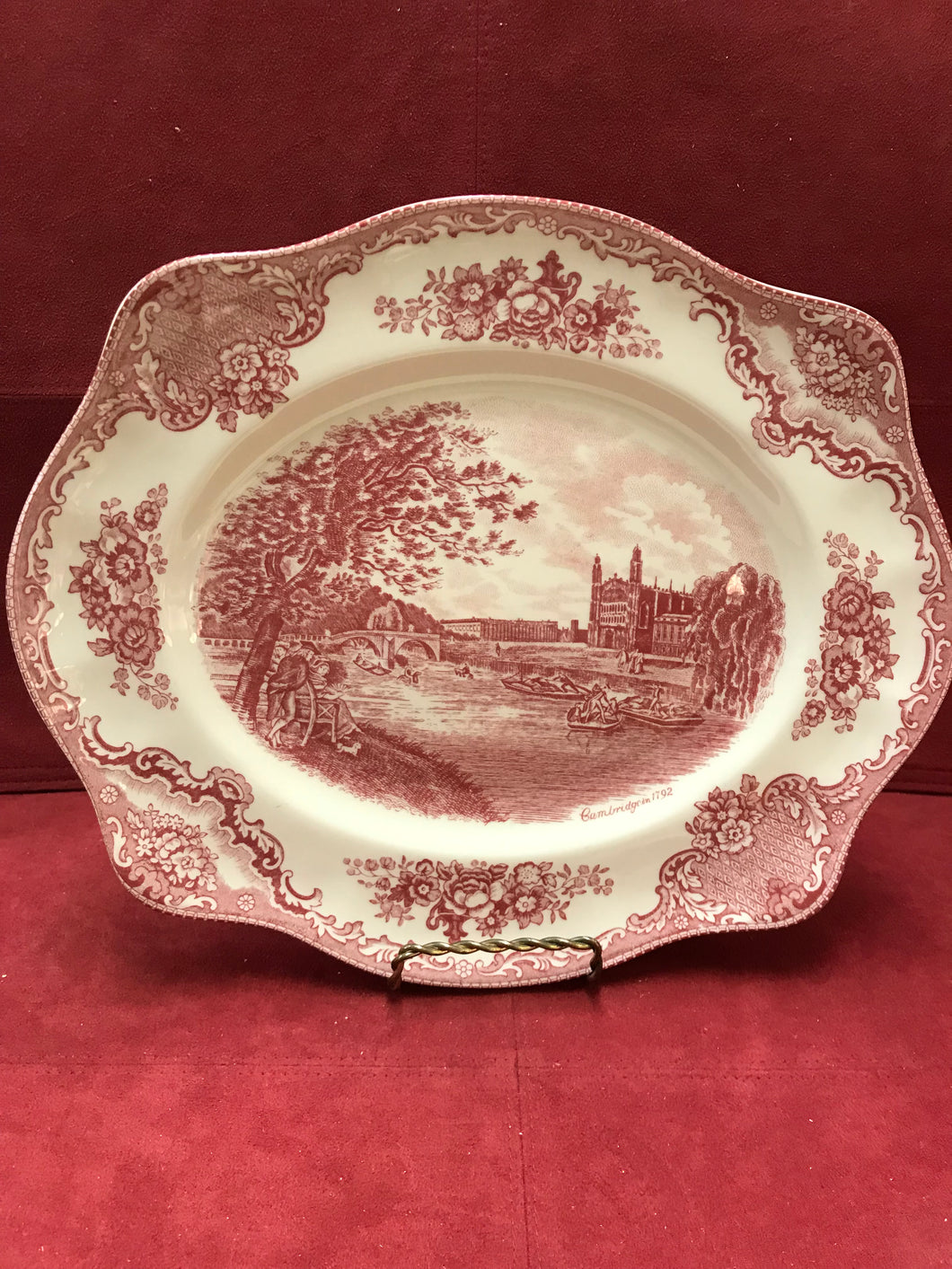 Johnson Brothers, Red Transfer Ware, Platter