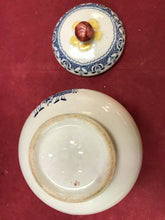 Load image into Gallery viewer, Johnson Bros. England, Old Granite, Hearts and Flowers. Cream and covered Sugar Bowl