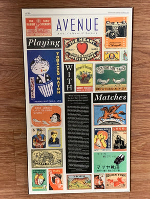 Matchbook Collection. Wall Plaque