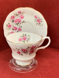 Royal Albert, England. Cup and Saucer.  Pink Roses