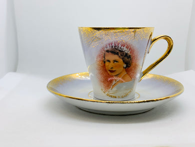 Made in East Germany,   HRH Queen Elizabeth II . Demitasse Cup and Saucer