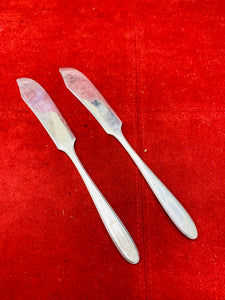 Flatware. USA. Grosvenor. Silver Plated. Butter Knives