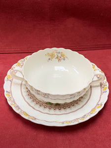 Copeland-Spode- England.  Buttercup.  Cream Soup with Underplate