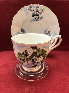 Royal Albert, England. Cup and Saucer. Curling