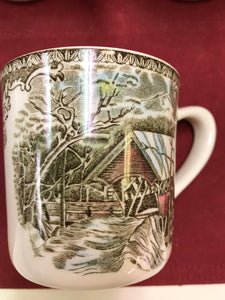 Johnson Bros. England. Friendly Village, Mugs, The Covered Bridge