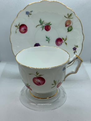 Aynsley, England. Cup and Saucer. Florida