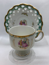Load image into Gallery viewer, Unmarked.  Demitasse Cup and Saucer.  Lustreware- green