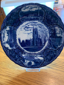 Collector Plate. England. Blue and White. View of London Ontario.  8-3/4