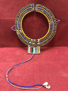 Indigineous Africa, Masai. Beaded Collar on Hide.