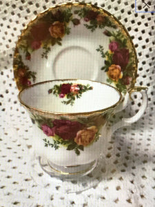 Royal Albert, England. Old Country Roses. Demitasse Cup and Saucer.